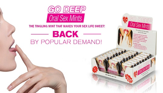 Go deep oral sex mints