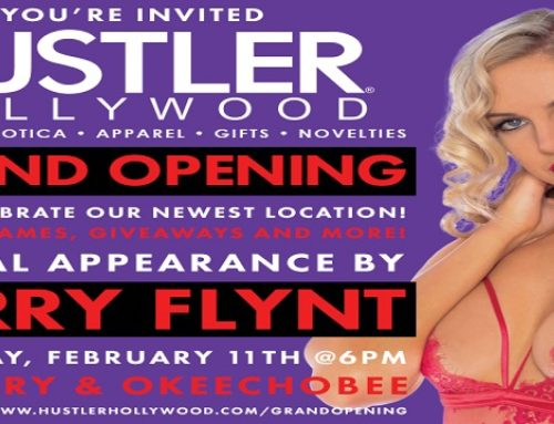 Catch Larry Flynt at Hustler Hollywood West Palm Beach Grand Opening