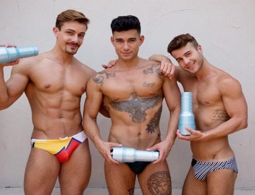 Fleshjack Adds 3 CockyBoys Gay Superstars Sex Toys