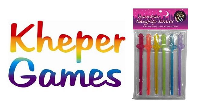 Kheper Games Streets Rainbow Naughty Straws