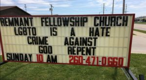 Indiana Church Evicted After Posting Hateful Anti-LGBT Banner