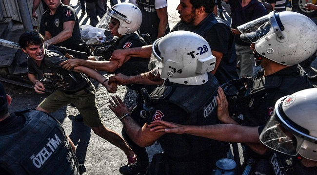 Turkish Police Fire Tear Gas