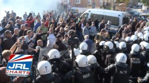 Tear Gas Used On Right Wing Protesters at Gay Pride March