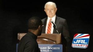 Jeff Sessions Heckled by Pator will Green an Pastor Darrell Hamilton at Federalist Society