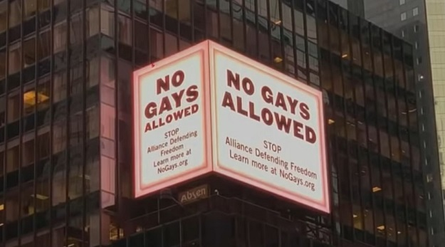 No Gays Allowed Digital Board-Time-Square