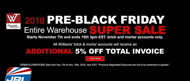 WTC 2018 Pre-Black Friday Warehouse Super Sale for Brick and Mortar
