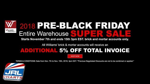 WTC 2018 Pre-Black Friday Warehouse Super Sale for Brick and Mortar