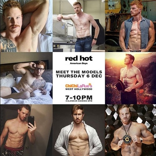 Red Hot 100 Underwear Calendar Debuts at Chi Chi LaRue's-Poster