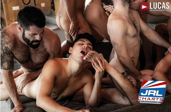 Bareback Guy Pile 11 Man Gay Orgy