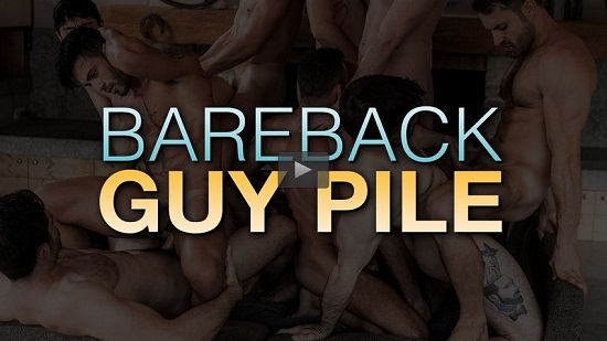 Bareback Guy Pile (2019) Movie Trailer - Gay porn Orgy Movie - Lucas Entertainment