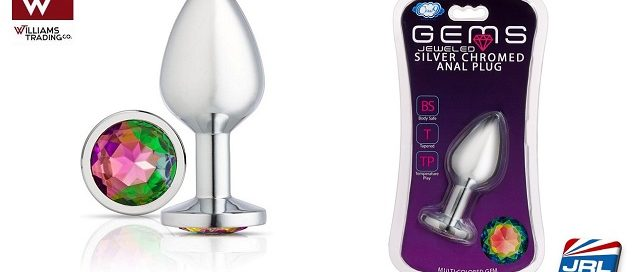 Cloud 9 Gems Silver Chromed Tall Anal Plug a Must Stock