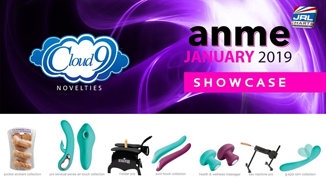 Cloud 9 Novelties Showcasing New Product Lines at ANME, XBIZ