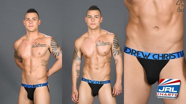Nick Mascardo Models Almost Naked Premium Jock by Andrew Christian
