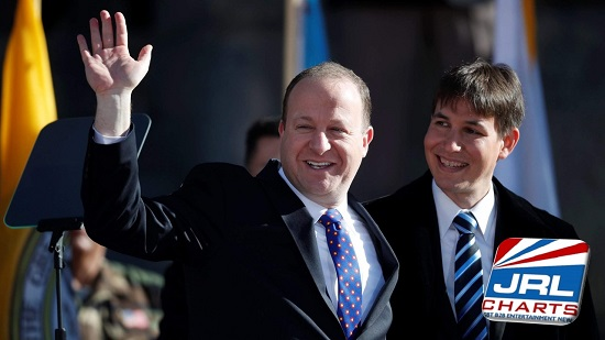 Openly Gay Governor Jared Polis with Partner Marlon Reis Sworn In at Denver Ceremony