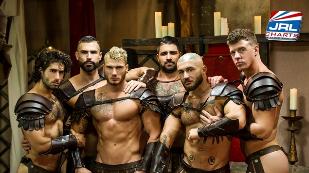 Sacred Band of Thebes DVD gay porn movie with All Star Cast