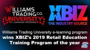 Williams Trading University e-learning program wins 2019 Retail Education Training Program of the year