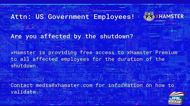 xHamster Grants #Shutdown Gov't Employees Free Access