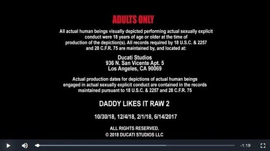 Daddy Likes It Raw 2 (2019) Movie trailer gay porn - Nasty Daddy