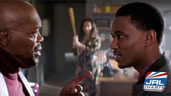 Shaft (2019) Samuel L. Jackson and Jessie Usher - Warner Bros. Pictures
