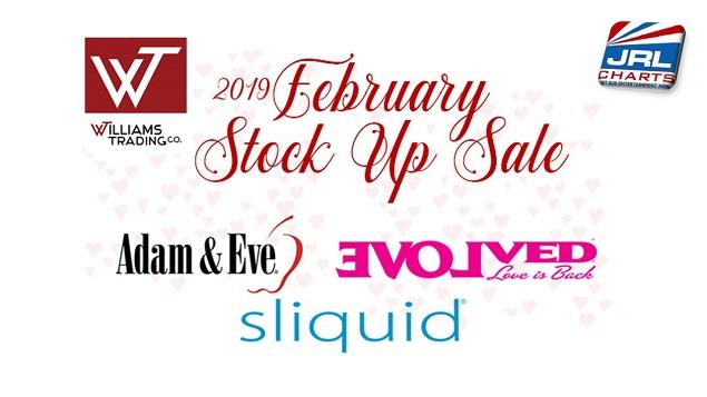 Williams Trading Feb. Stock Up Sale, Adam and Eve, My Evolved, Zero Tolerance, Sliquid