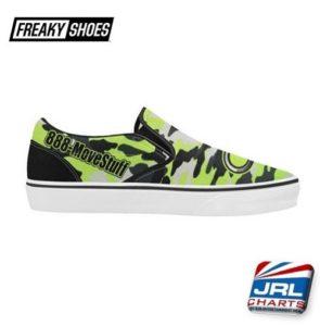 Custom 888-MoveStuff Design Men's Classic Slip-On Sneakers