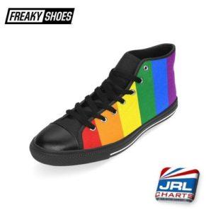 Pride Flag Men's Classic High Top Canvas Shoes