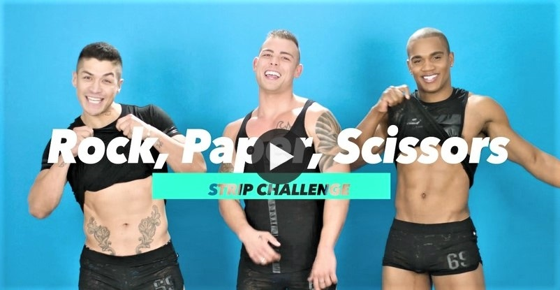 Andrew Christian Models Play Rock, Paper, Scissors and Get Naked