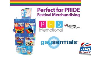 Gaysentials PRIDE Spinner Rack for Festival Season Ships at WTC