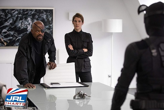Samuel L. Jackson and Cobie Smulders in Spider-Man - Far from Home (2019)