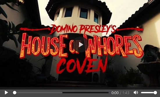 Domino Presley's House of Whores Coven movie trailer-Grooby-Productions
