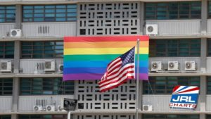 U.S. Embassy in Seoul on May 20, 2019-Rainbow-Pride-Flag