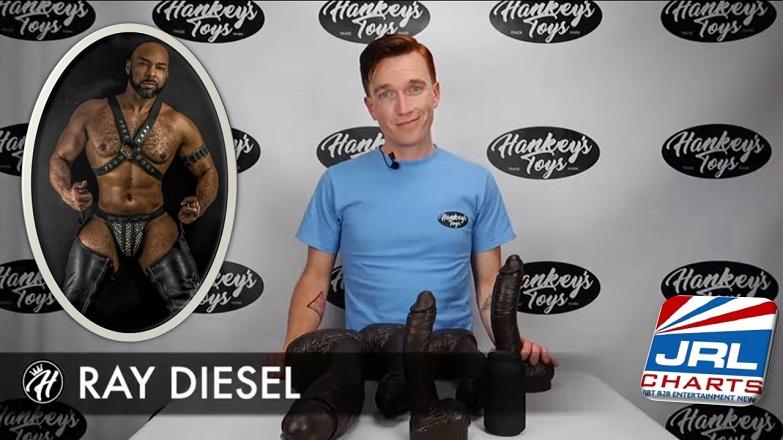 Hankey's Toys' Justin Demos Ray Diesel Giant Cock Range NSFW
