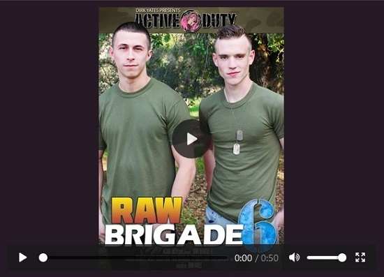 Raw Brigade 6 DVD - gay-porn-movie-trailer-active-duty-productions