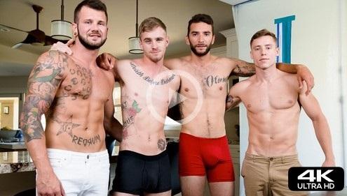 Long Construction gay porn trailer-Justin Matthews-Next-Door-Studios