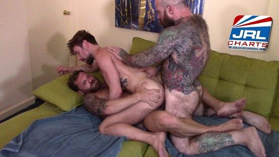 Dragon Media - Gay Porn Threeway - Rocco Steele's Daddy Smash My Hole