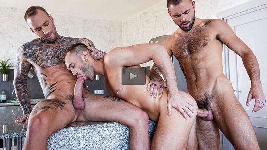 Dylan James and Jeffrey Lloyd Double-Team Jack Radiz-gay-porn-trailer