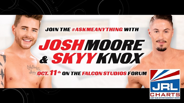 Gay Porn - Falcon Studios Skyy Knox, Josh Moore Set AMA Q&A for Oct.1
