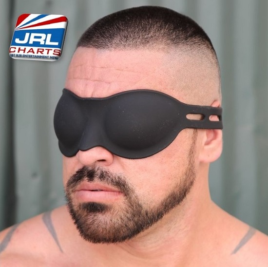 Gay BDSM Gear Silicone Blindfold by 665 Leather