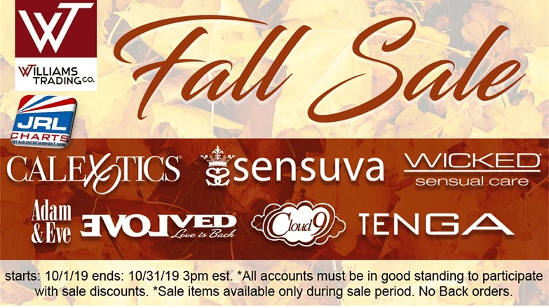 Gay News - Sex Toy News - Williams Trading Hosting Fall Sale Throughout October