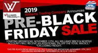 Williams Trading Co. Announce 2019 Pre-Black Friday Sale