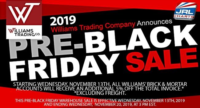 Williams Trading Co. Announce 2019 Pre-Black Friday Sale