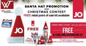 System JO Christmas Promo, Williams Trading System JO Christmas Promo, holiday Instagram contest JOxmas2019, lubricants, massage oils