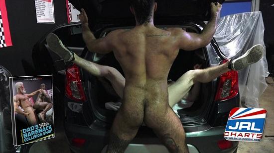 gay porn - Rocco Steele's 'Dad's Bareback Collision Shop' -Dragon Media