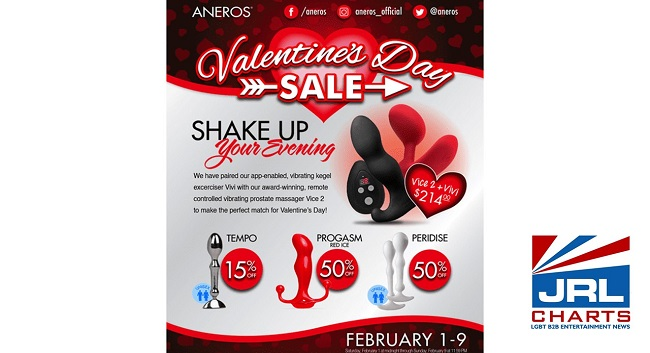 Aneros Valentine's Day Web Sale for Couples starts Feb. 1