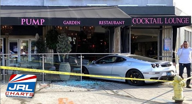 LGBT News WeHo - Ferrari Crashes Into famous Pump Restaurant