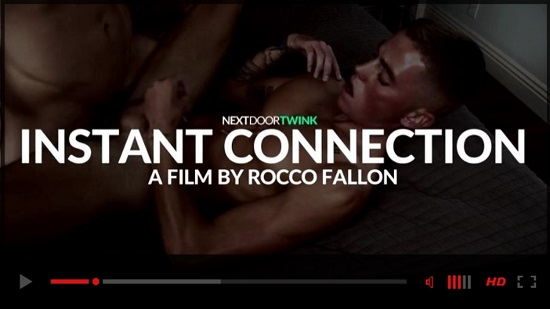 Instant Connection gay porn trailer - Next Door Twink