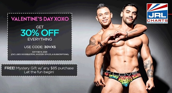 Andrew Christian Launches Its Valentine's Day 30% Off Sale