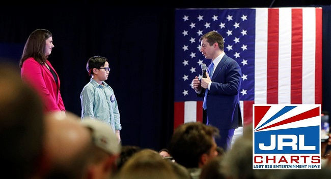 Pete Buttigieg witnesses 9 Yr. Old Come Out Gay at Rally