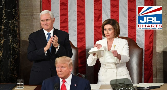 Nancy Pelosi Tear Up Trump's Dirty SOTU Speech