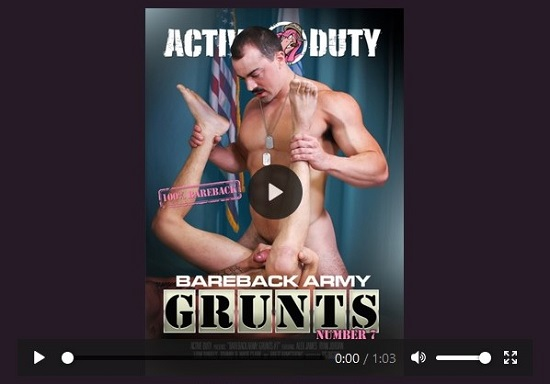 Bareback Army Grunts 7 DVD-NSFW Trailer